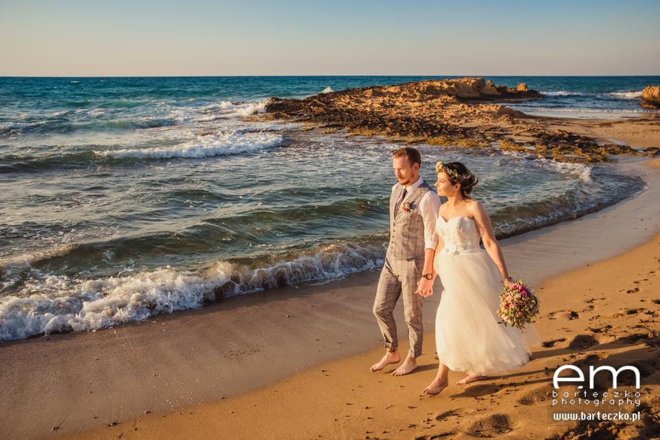 Ślub na Krecie ślub o zachodzie słońca