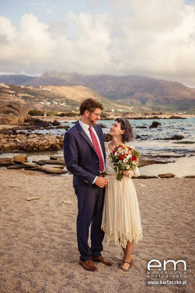ślub na greckiej plaży