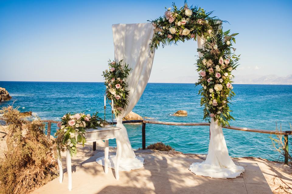 ślub na romantycznym tarasie